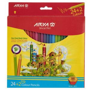 مداد رنگی 24 رنگ آریا