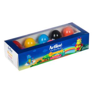 خمیربازی ۱۰ رنگ تخم مرغی آرت لاین