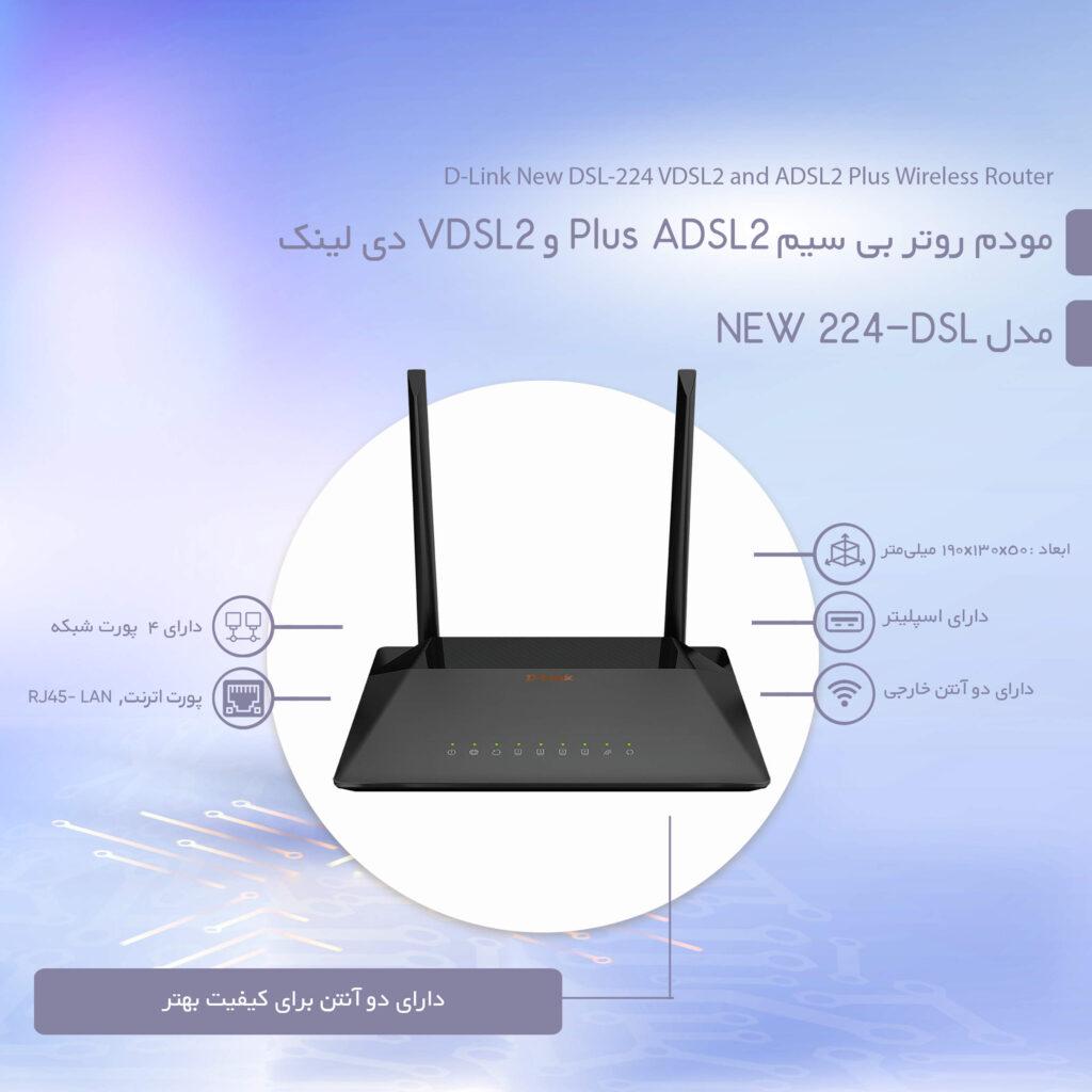 توضیحات D-Link DSL-224